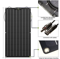 1pcs Flexible Solar Panel 100W ETFE Solar Panel Solar Cell 18V 12V solar panels battery charger kit system