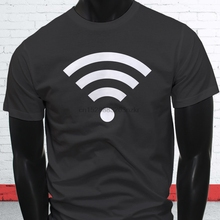 Connection Strength PC Android Phone Internet WiFi Signal Mens Charcoal T-Shirt Funny O-Neck Tshirt