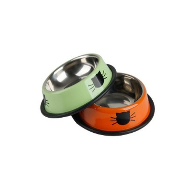 New Dog Cat Bowls Stainless Steel Travel Car Face Feeding Feeder Water Bowl For Pet Dog Cats Puppy Outdoor Food Dish
