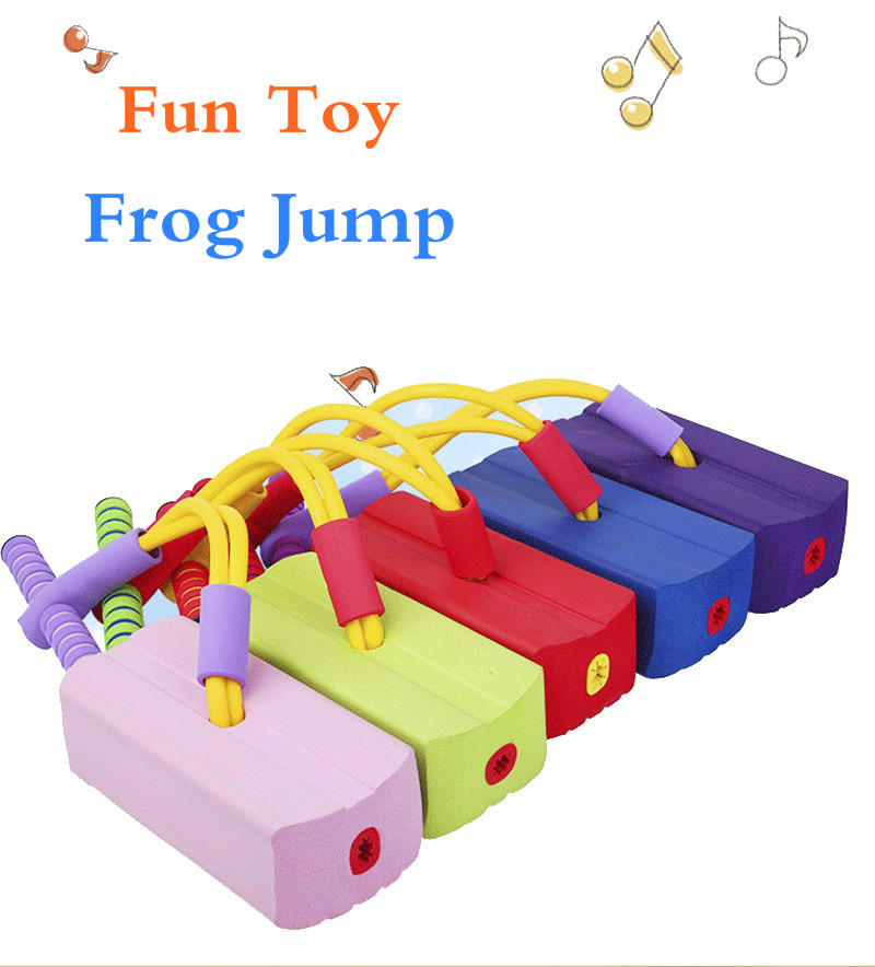 Jumper Bounce Foam Frog Balancing Bounce Shoes Jumper Pogo Stick Jumping Outdoor Training Interactive Game Fitness Toys For Kids