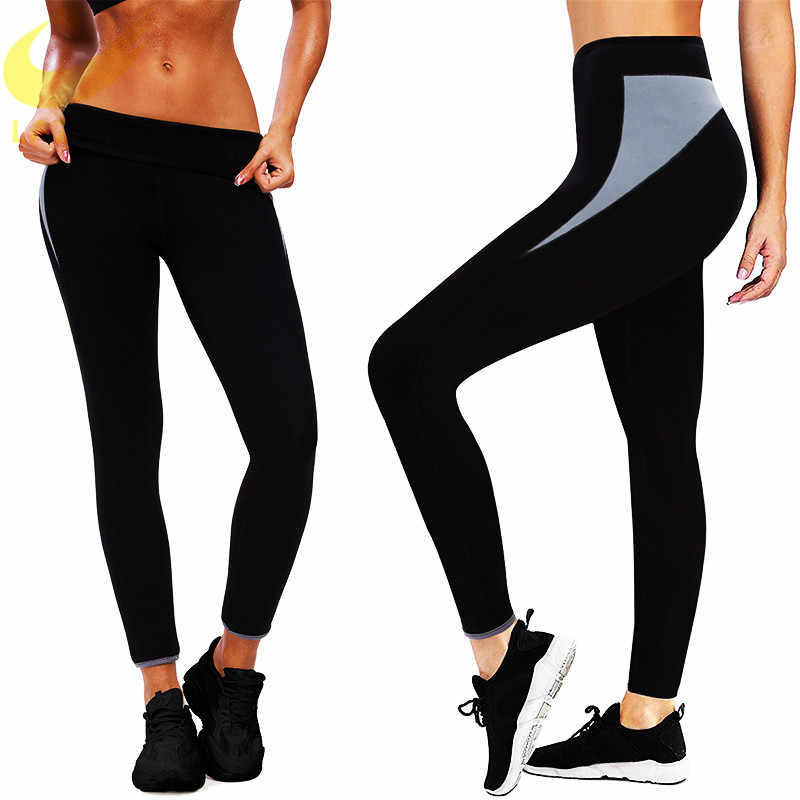 LAZAWG Gewichtsverlies Hot Neopreen Sauna Zweet Broek Workout Dijen Afslanken Capri Leggings Body Shaper Fashion Design Afslanken