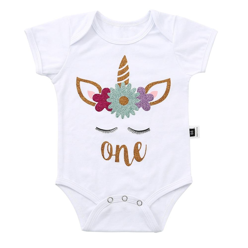 Infant Clothing Summer Onesies Baby Bodysuit Boy Girls Sleeveless Unicorn Cotton Daddy Kids Clothes Pyjamas Twins Bodysuit