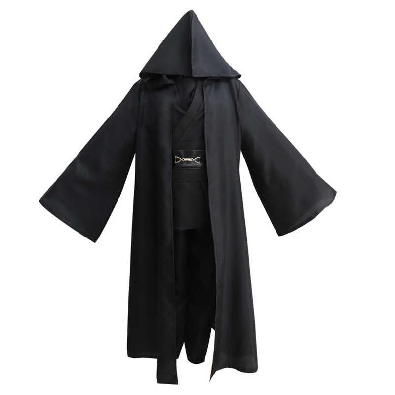 Star Wars Anakin Skywalker Darth Vader Cosplay Kostüme Jedi Ritter Hemd + Hosen + Gürtel + Schulter Gurt + Mantel anzug Party Halloween