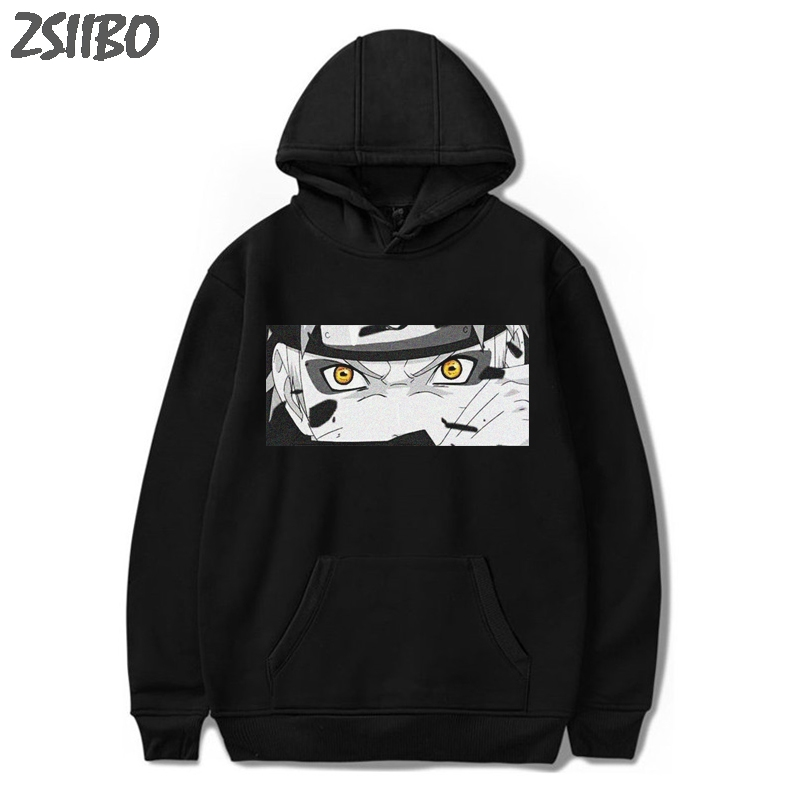 Naruto Hoodies Unisex Harajuku Japanese Anime Uchiha Itachi Printed Men's Hoodie Male Black Streetwear Casual Sweatshirt Coat