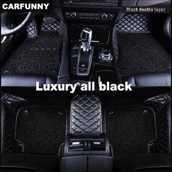 CARFUNNY Waterproof Leather car floor mats for A6 C5 C6 C7   A4 B6 B7 B8 2000-2019 new Custom Automotive Carpet