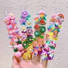 Ponytail-Holder Rubber-Bands Hair-Accessories Elastic Girls Kids Children Small Cartoon