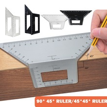 Multifunctional Gauge Angle Ruler Aluminum alloy Square 45/90 Degree Measuring Woodworking Tool