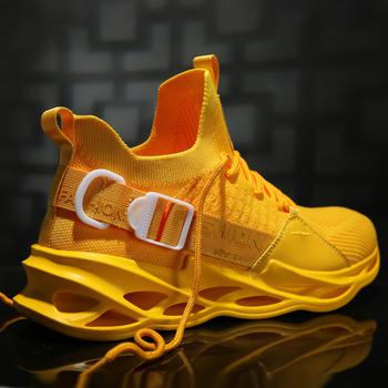 Oddychające buty do biegania 46 lekkich męskich butów sportowych 45 dużych rozmiarów wygodne adidasy Fashion Walking Jogging obuwie tanie i dobre opinie obeyme Odpowiedź poduszki Stabilność Hard court Początkujący Dla dorosłych Oddychająca Mesh (air mesh) Średnie (b m)