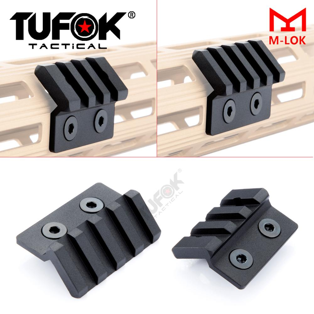 TuFok 3 slot, 4 slot M-Lok Offset Picatinny Rail for Flashlight, Optics Scope,Laser Fit Mlok Handguard System(China)