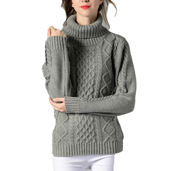 Autumn Winter Turtleneck Sweater Women Solid Knitted Sweaters Warm Long Sleeve Pullover Sweater Black White 2018 brand fashion autumn winter warm sweater long sleeve elastic sweater female pullover turtleneck knitted sweaters tops xnxee