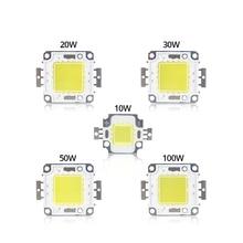 Floodlight-Spotlight Diode Led-Chip Matrix High-Power COB 100W Beads DIY 20W DC 50W 30W