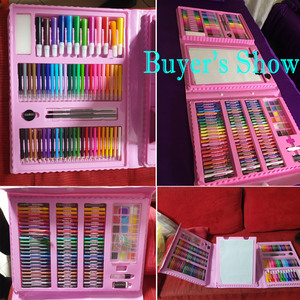 Image 5 - 176PCSดินสอสีศิลปินชุดวาดภาพวาดGraffitiแปรงCrayon Markerปากกาของขวัญเด็กDaliy Entertainment Toy Artชุด