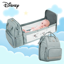 Disney Diaper Bag Mom Backpack Mommy Baby Bags Maternity Baby Care Diaper Bag Travel Stroller Bag Baby Bed Dual-Use Backpack