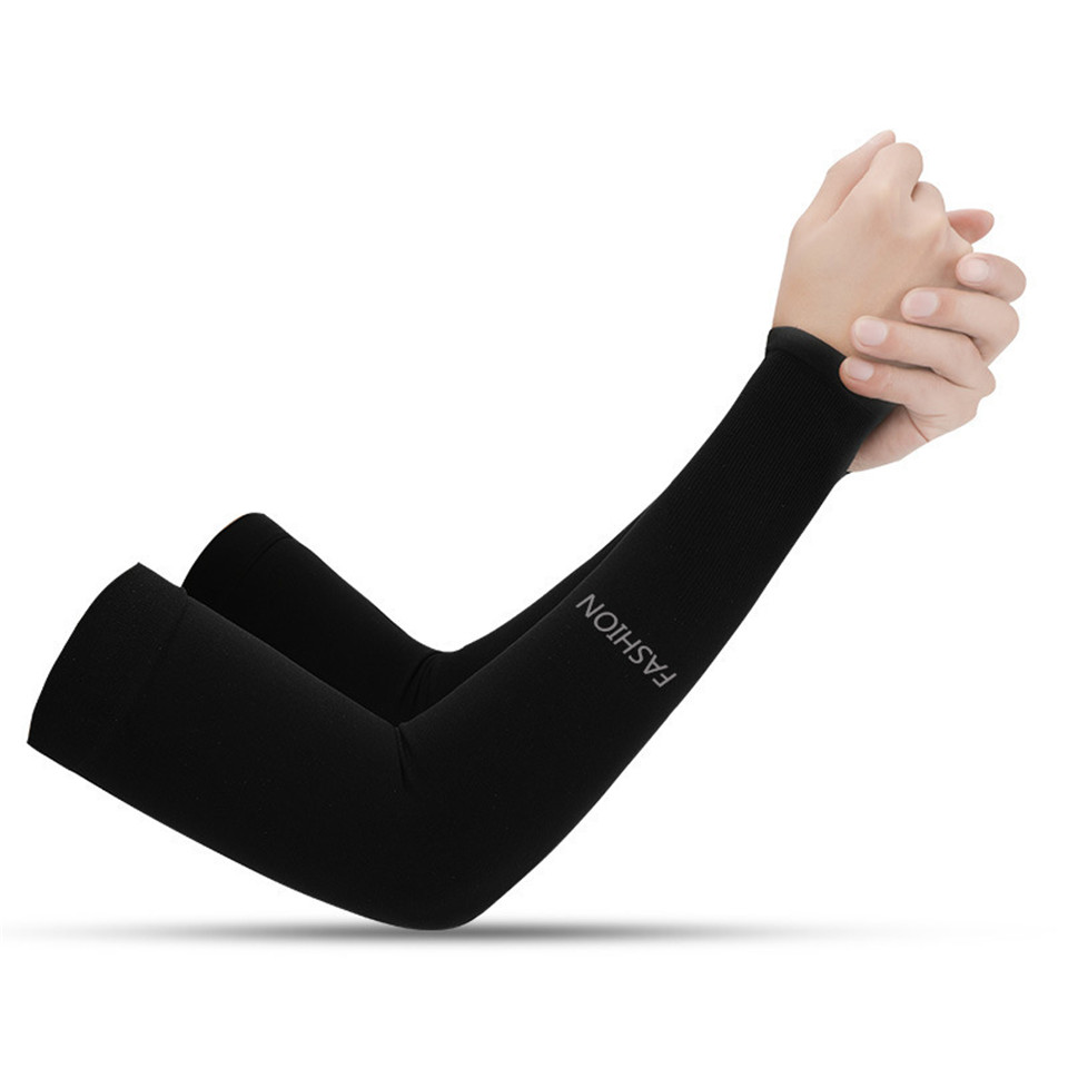 New Outdoor Ice Arm Silk Sleeves Men Women Summer Breathable Sports UV Sunscreen Fishing Cycling Ice Silk Cool Arm Cover Sleeves
