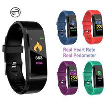 115plus Bluetooth Smart Sport Armband Wasserdicht Herz Rate Blut Sauerstoff Erwachsene Blutdruck Elektronische Armband Überwachung Cu cheap Nein Farbe LCD All Compatible RUBBER Fitness Tracker NONE Chinesisch Leben Wasserdicht CN (Herkunft)