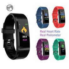 Pulsera deportiva inteligente Bluetooth 115plus, brazalete electrónico con control del ritmo cardíaco, del oxígeno en sangre y de la presión sanguínea para adultos