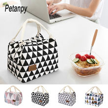 купить Functional Pattern Cooler Lunch Box Portable Insulated Canvas Lunch Bag Thermal Food Picnic Lunch Bags For Women Kids по цене 165.18 рублей