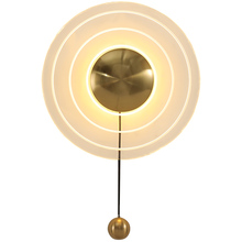 Round Wall Lamp Golden Led Living Room Wall Light Bulb Simple Aisle Stairs Balcony Light Creative Bedside Wall Lamp industry wood bedside lamp american creative metal wall sconces home decor aisle balcony living room bedroom wall light wl247