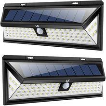 54/80/90/118 LED Solaire Lumière Extérieure Lampe Solaire Actionnée Solaire de Capteur de Mouvement Spot 3 Modes Mur Lumière Pour Décor De Jardin
