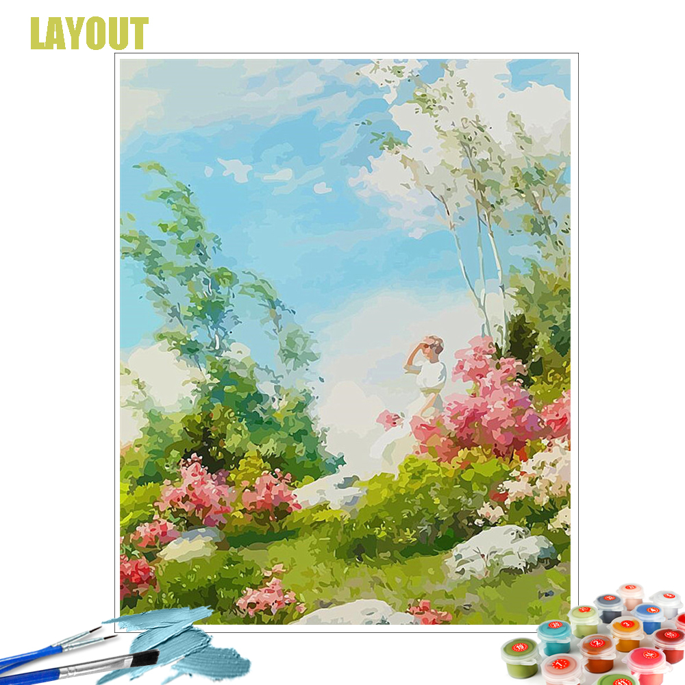 Green Garden Paint By Number DIY Painting Kit