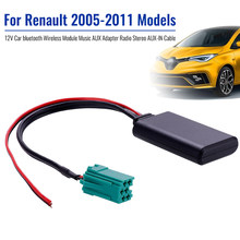 12 V + Mobil Modul Bluetooth AUX Adaptor Wireless Radio Stereo AUX-IN Kabel untuk Renault 2005-2011 Model(China)