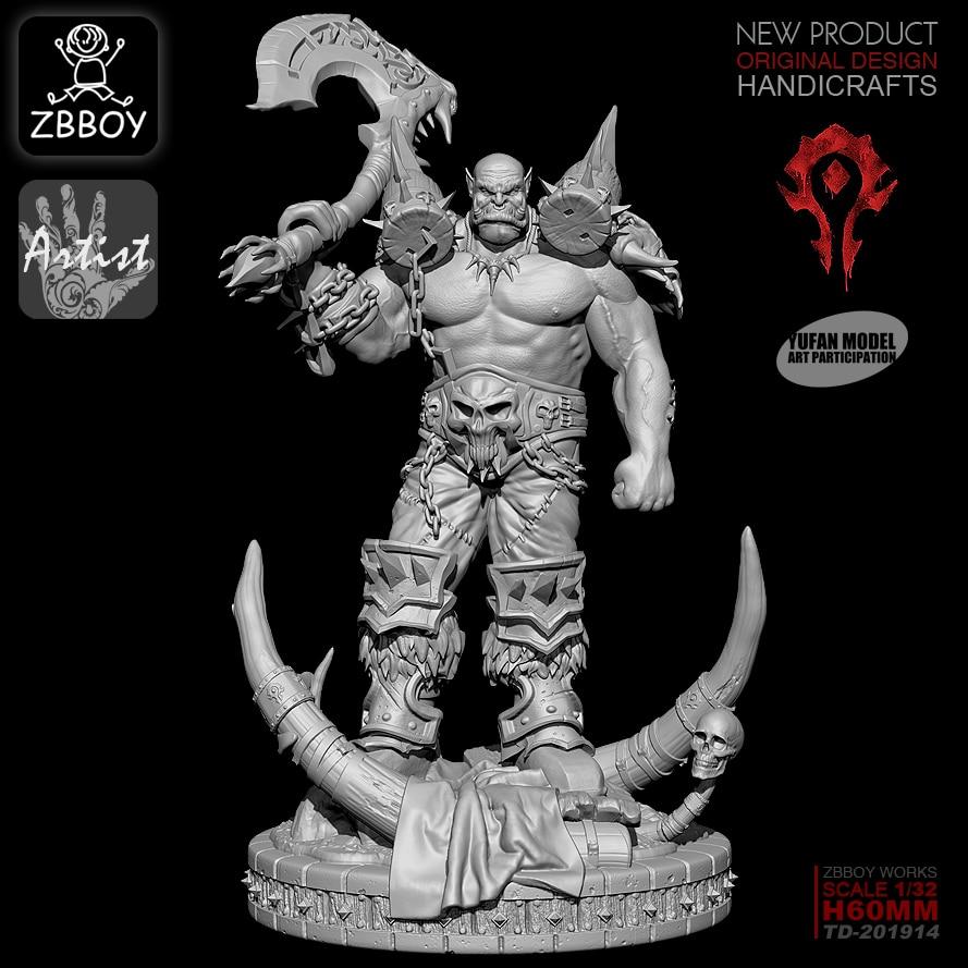 1/32  ZBBOY Resin Figure Kits ZBBOY Warcraft Resin Soldier  Self-assembled TD-201914
