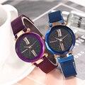 Роскошные женские часы  магнитные  звездное небо  женские часы  кварцевые наручные часы  модные женские наручные часы  reloj mujer relogio feminino