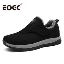 Winter warm men shoes with fur Outdoor Men casual Suede leather size 38-46 Comfortable winter women