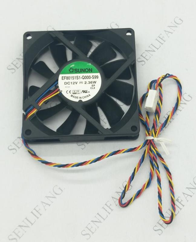 Free Shipping EF80151S1-Q000-S99 8015 12V 8CM 4PIN PMW Cooling Fan
