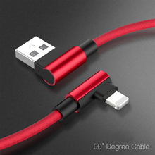 For iphone charger USB Cable Cable iPhone 6S Fast Charging 90 Degree usb Cable For iPhone X Xs Max 8 7 6 Plus 6s 5 5S SE iPad