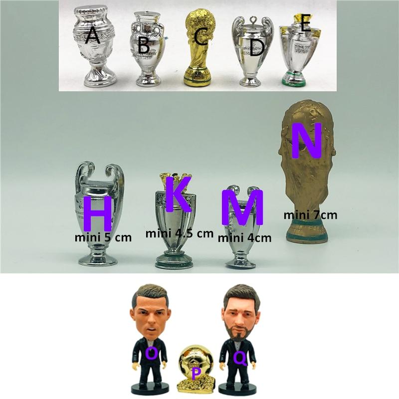 Soccerwe Soccer Champion Doll Accessories Cartoon Mini Cup Ballon Duplication Resin Alloy Metal Trophy Figures Sample-2