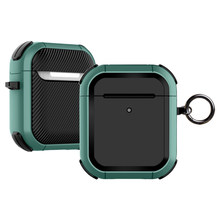 Cas pour Airpods 2nd Housse Luxe Protecteur Écouteur Housse pour Apple airpods 2 1 pro Air cosses 2 Antichoc À Manches Avec Crochet