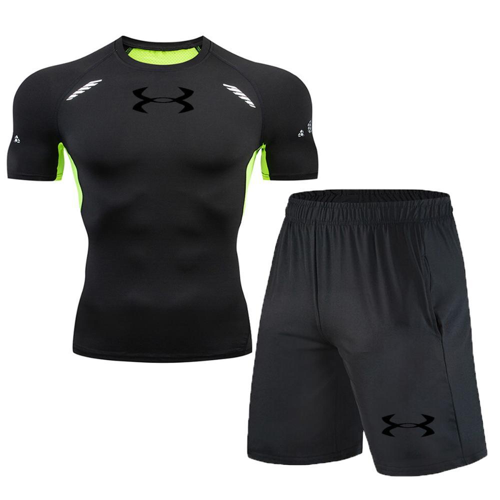 Running Sports Compression Shirt Men's Fitness Long-sleeved T-shirt Jogging Training Tight T-shirt Men's Quick-drying Sportswear