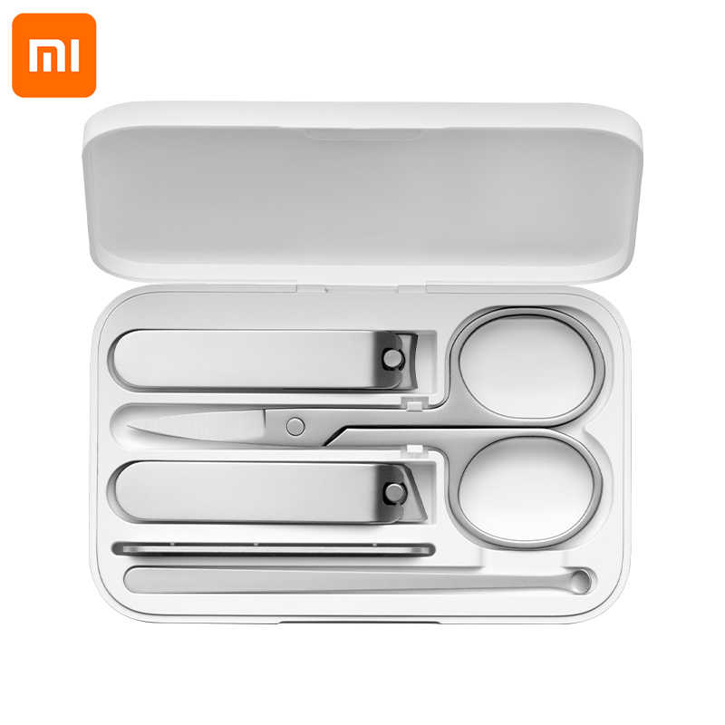 Xiaomi Mijia Stainless Steel Nail Clippers With Anti-splash cover Trimmer Pedicure Care Nail Cutter Professional File