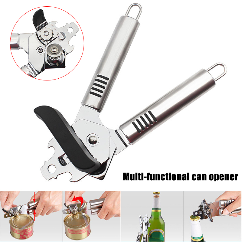 HOT Can Opener Stainless Steel Manual Good Grips Bottle Opener Easy Crank Can Openers TI99