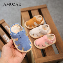 Baby Shoes Summer Rubber Bottom First Walker Breathable Beac