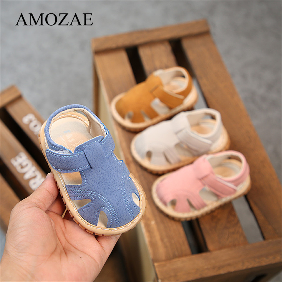 Baby Shoes Summer Rubber Bottom First Walker Breathable Beach InfanT Toddler Anti-Slip Pink Denim Cute Baby Shoes