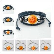 Поп аниме Dragon Ball фигурка поп игрушка многослойный тканый кожаный браслет Гоку стеклянный браслет с пулями детский подарок