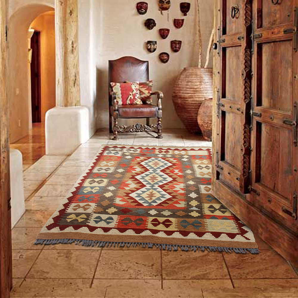 Point kilim Rose tapis coureur tapis de plancher de décoration Vintage Modernisme géométrique Tapis En Laine