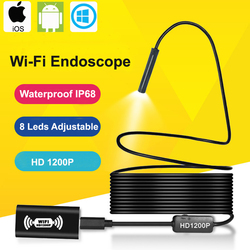 Kamera endoskopowa Wifi HD 1200P IOS endoskop usb dla androida bezprzewodowy wodoodporny IP68 boroskop inspekcyjny węża Endoscopio w Kamery nadzoru od Bezpieczeństwo i ochrona na