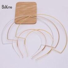Boyute chegam novas (10 peças/lote) metal ferro cabeça coroa base artesanal tiara jóias fazendo materiais