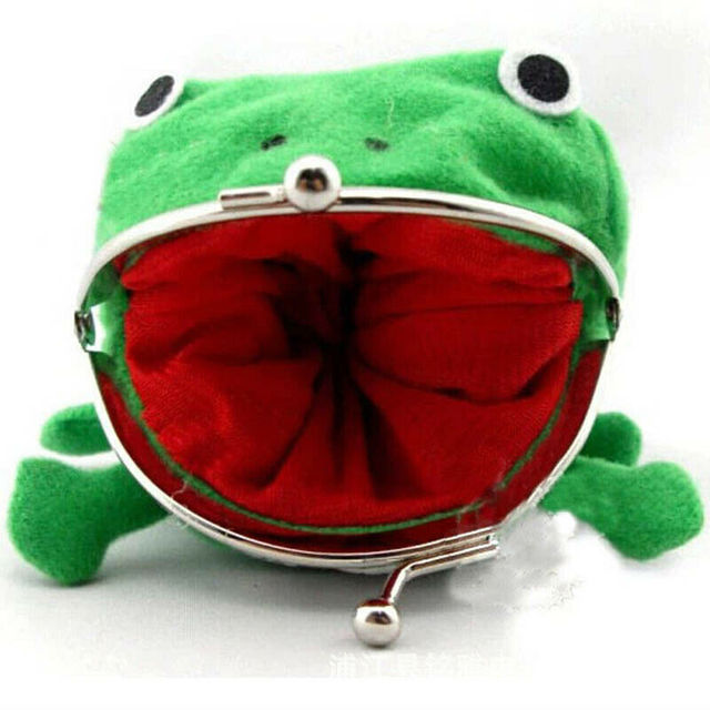 Фото 1 шт кошелек для монет мягкий пушистый плюшевый с лягушкой модные