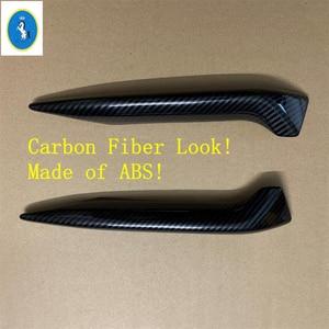 Image 5 - Chrome / Carbon Fiber Look Front Fog Lights Lamps Eyelid Eyebrow Stripes Cover Trim Fit For Nissan Qashqai J11 2018 2019 2020