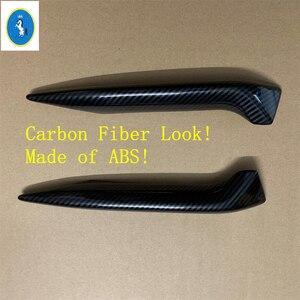 Image 5 - Chrome/fibra de carbono olhar frente nevoeiro luzes lâmpadas pálpebra sobrancelha listras capa guarnição apto para nissan qashqai j11 2018 2019 2020