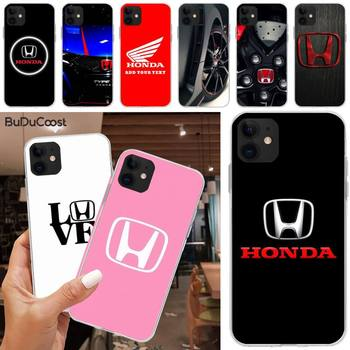 Jemy Car brand Honda luxury Soft Silicone TPU Phone Cover For iphone 5C 5 6 6s plus 7 8 SE 7 8 plus X XR XS MAX 11 Pro Max image