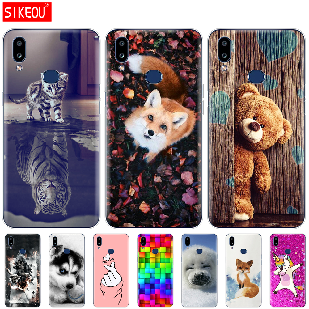 silicon case For Samsung A10S Case Soft TPU Back Phone Cover For Samsung Galaxy A10S GalaxyA10S A 10S <font><b>A107F</b></font> Painting bags bumper image