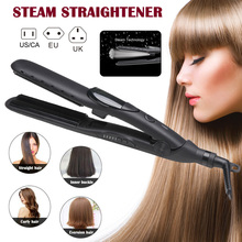 Professional Steam Hair Straightener Ceramic Tourmaline Ionic Flat Iron Salon Straighteners  NShopping
