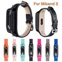 Correa de cuero genuino para pulsera inteligente Xiaomi Mi Band 2, accesorios de pulsera inteligentes para Xiaomi Mi Band 2
