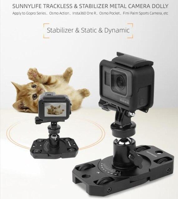 Insta360 One R FIMI paume stabilisateur sans rail support métallique vidéo curseur patineuse Dolly pour Insta360 One R Gopro OSMO poche daction