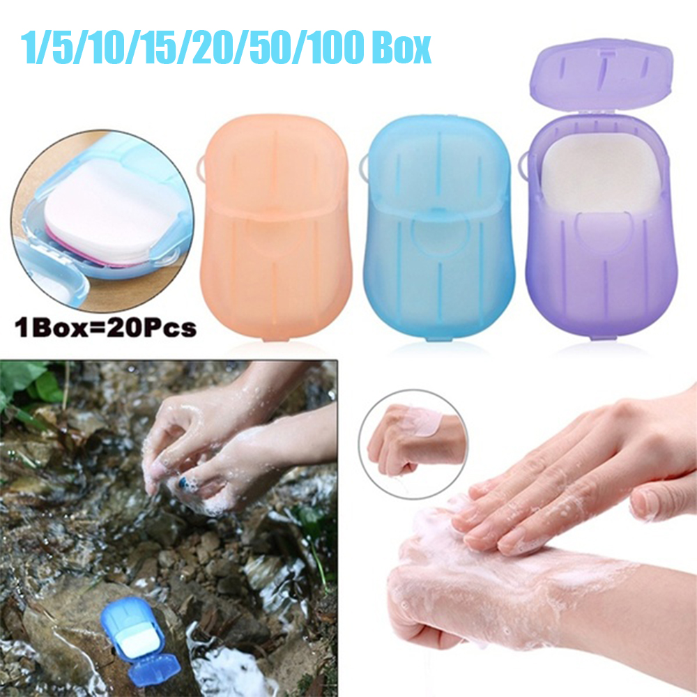 20 Pcs Disposable Travel Washing Hand Bath Soap Paper Scented Scented Slice Sheets Foaming Soap Paper Mini Soap Baby Care D30